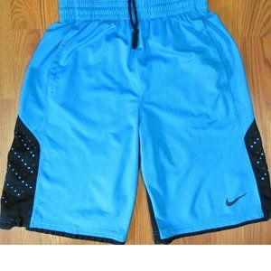 NIKE DRI-FIT ATHLETIC SHORTS AQUA BLUE & BLACK